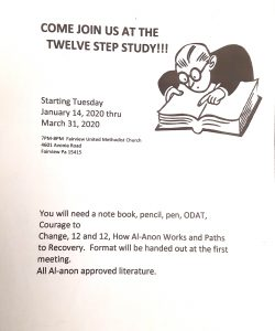 Twelve-Step Study Session @ Fairview United Methodist Church